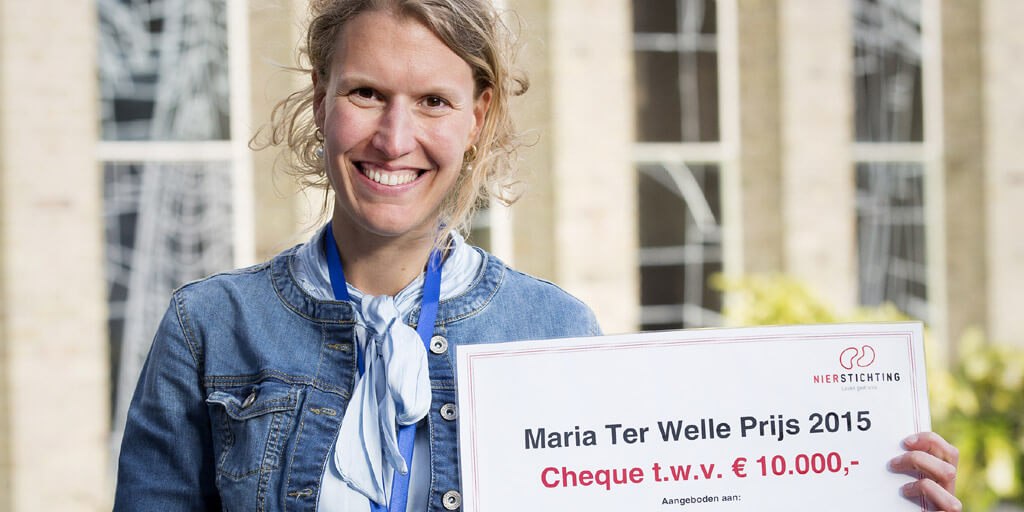 Renske Karens winnaar Maria ter Welle prijs 2015 en won €10.000,- voor de ontwikkeling van de ijslolly.